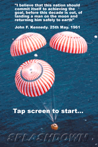 Screenshot Splashdown, Apollo Command Module, 3-D (for Amber/Blue glasses)